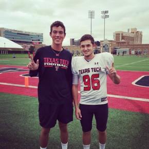 Caleb Wagner with Texas Tech kicker