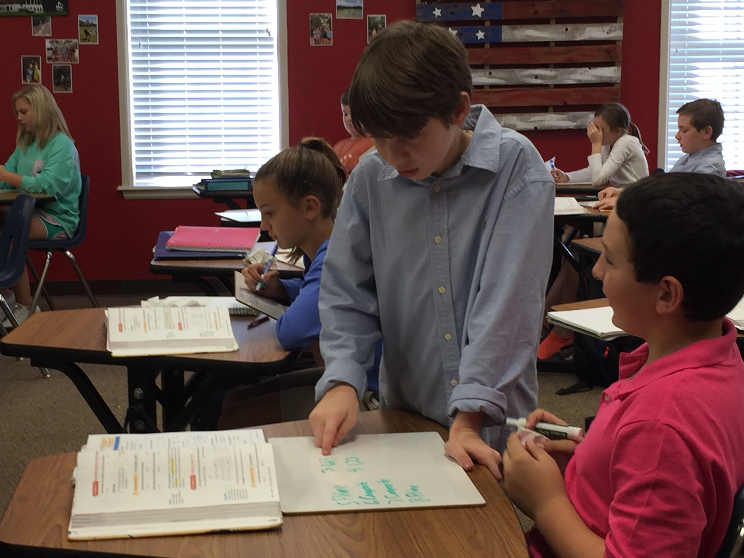 6th Grade Students Teach Math Lesson to Peers | Brook Hill School ...